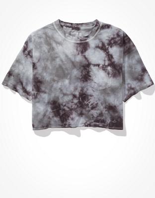 AE Cropped Tie-Dye Crew Neck T-Shirt
