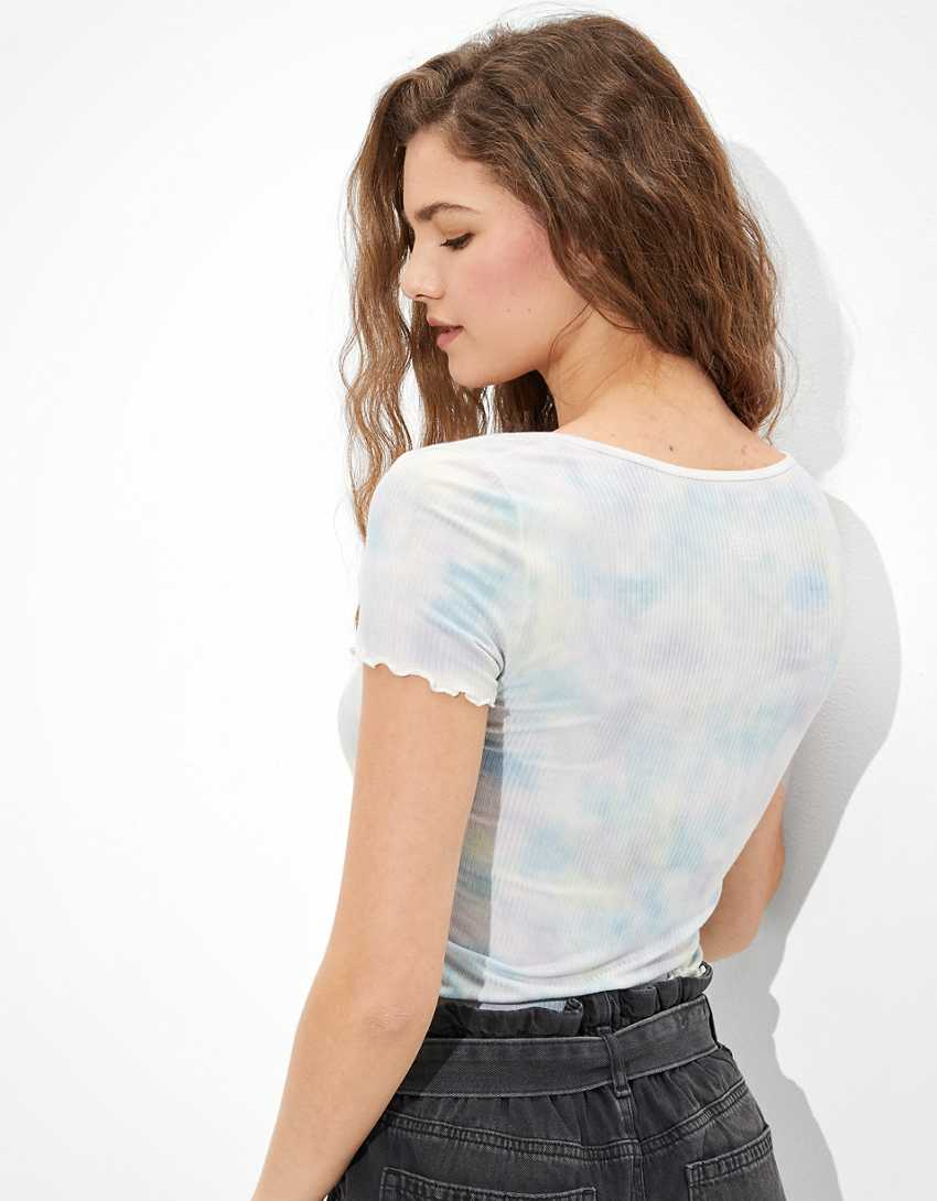 AE Tie-Dye Snap-Front Baby Tee