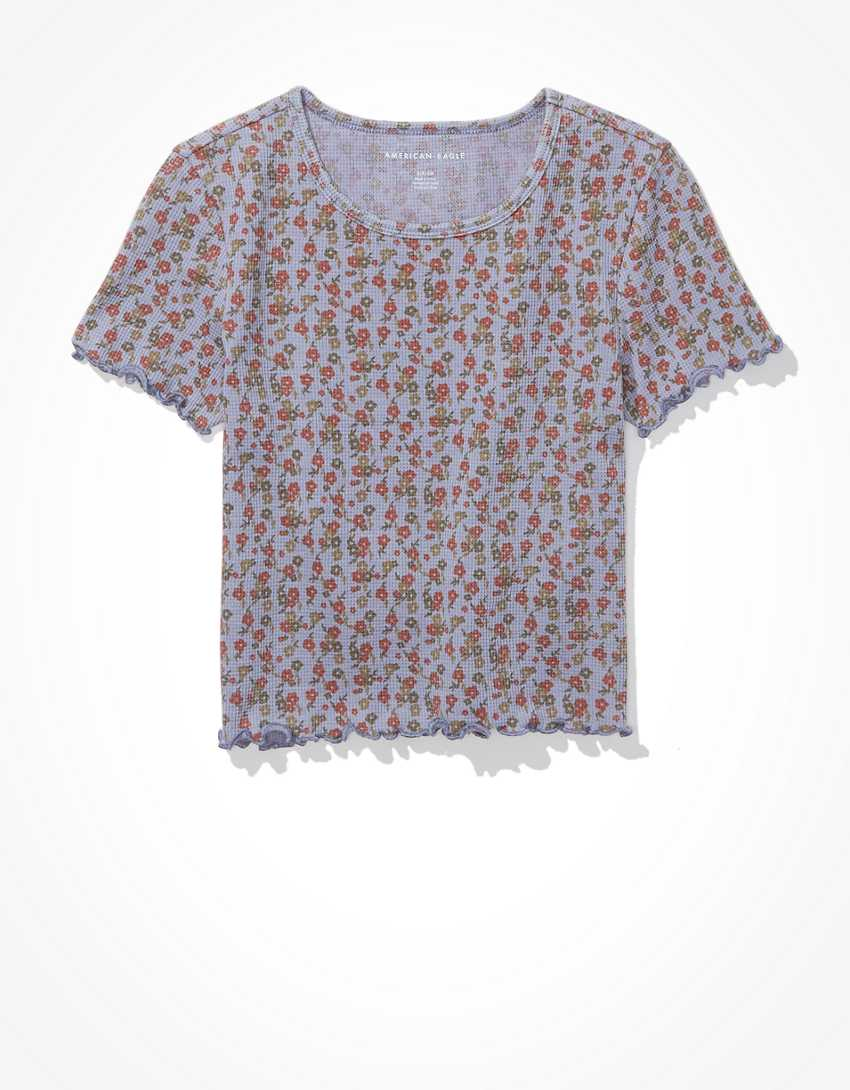 AE Floral Waffle Baby Tee