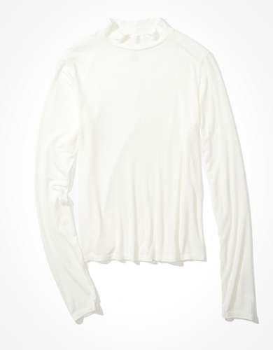 AE Long Sleeve Mock Neck T-Shirt
