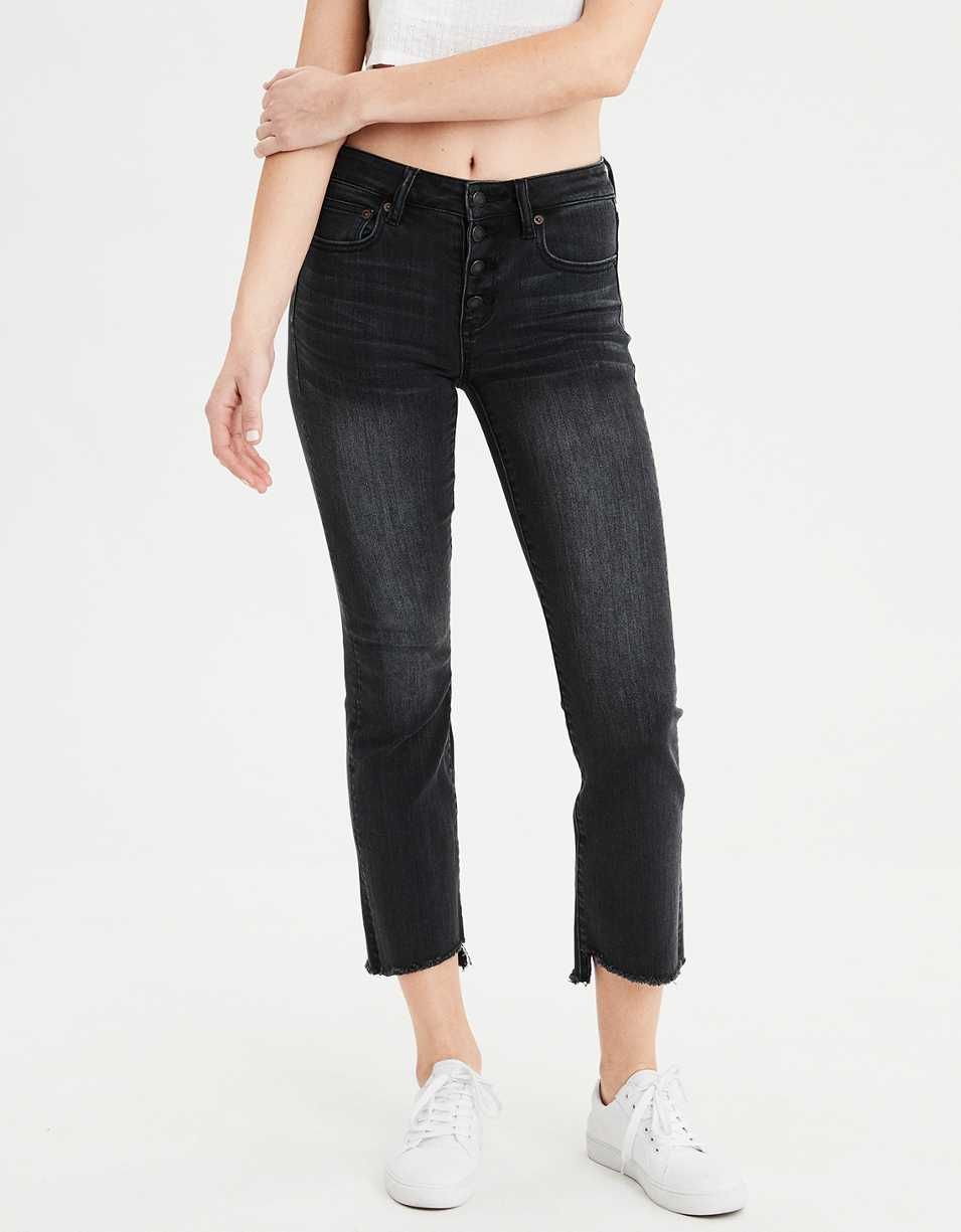 AE High-Waisted Crop Flare Jean