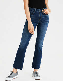 High-Waisted Crop Flare Jean
