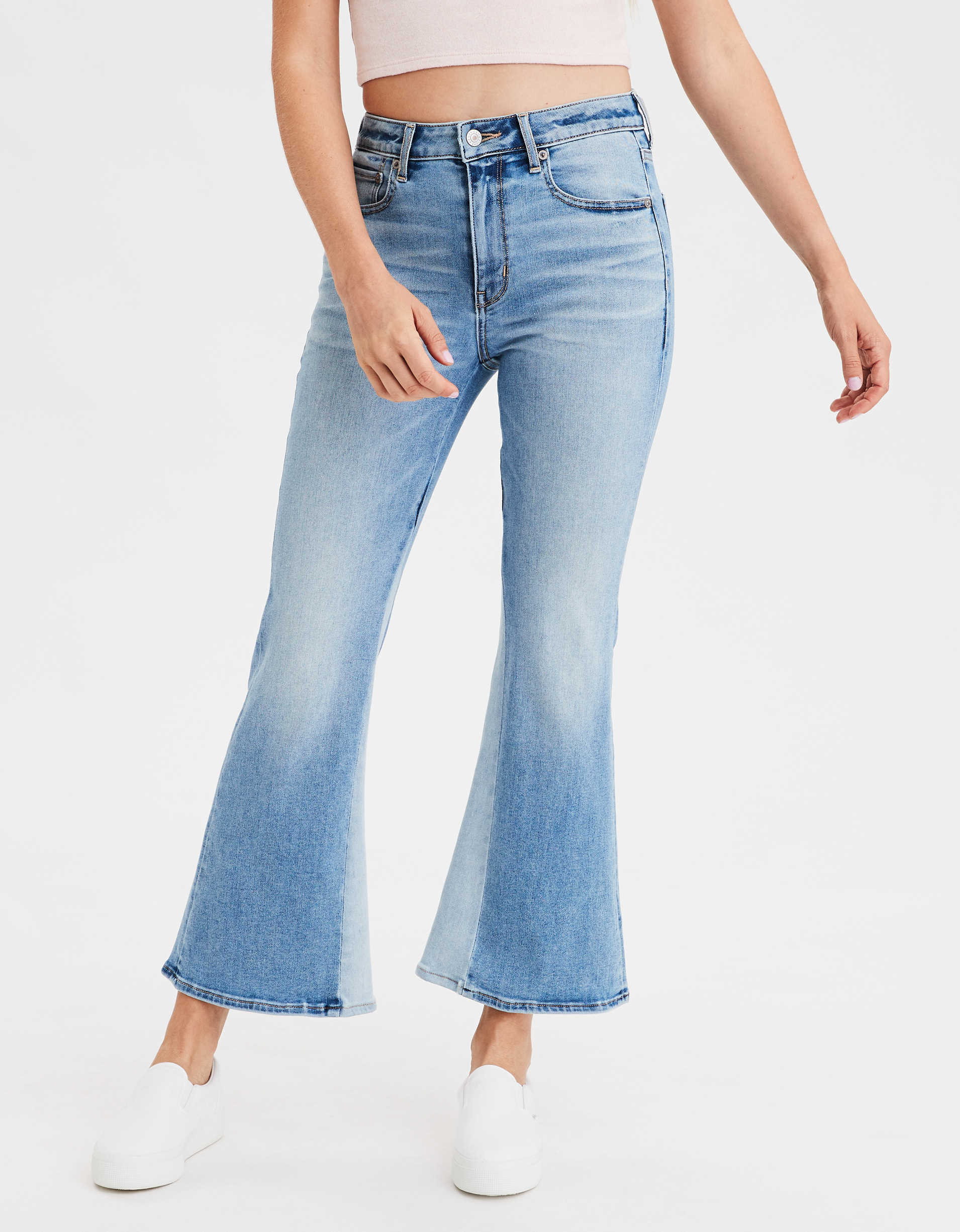 AE Ne(X)t Level Super High-Waisted Crop Flare Jean
