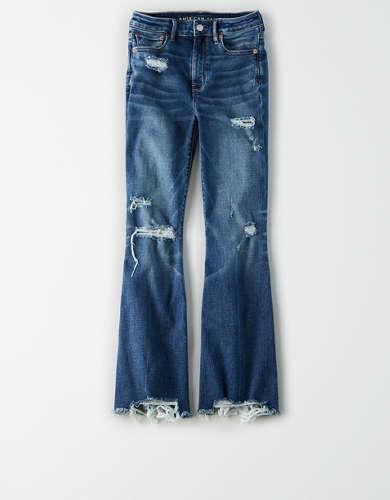 Super High-Waisted Crop Flare Jean