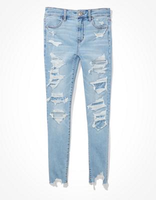 מכנסי ג'ינס Ne(x)t Level High-Waisted Jegging Crop אמריקן איגל