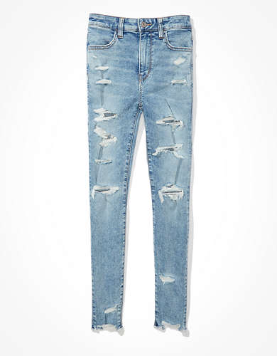 AE Ne(x)t Level Ripped Super High-Waisted Jegging Crop