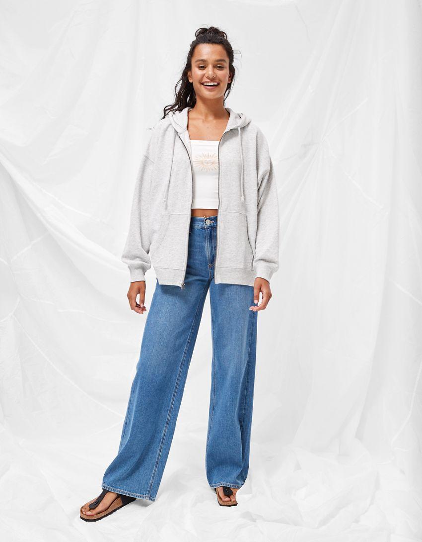 AE Fleece Oversized Zip-Up Hoodie