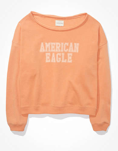AE Oversized Fleece Graphic Crew Neck Sweatshirt