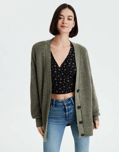 AE Oversized Button Front Cardigan