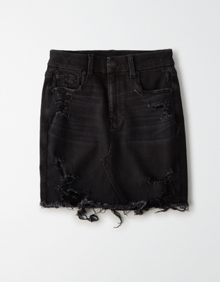 AE Ne(x)t Level Curvy High-Waisted Denim Mini Skirt