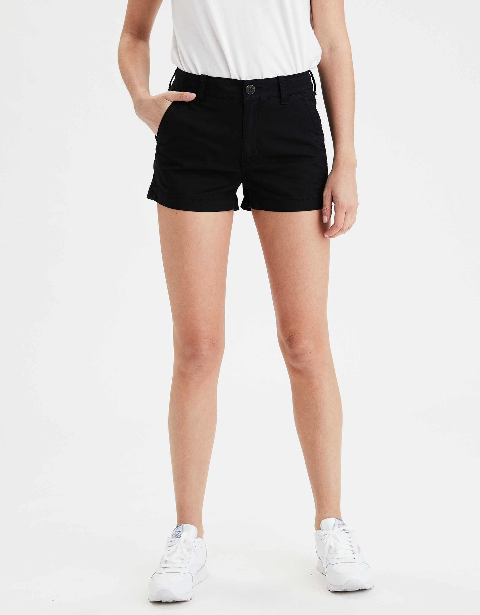 AE High-Waisted Khaki Short Short