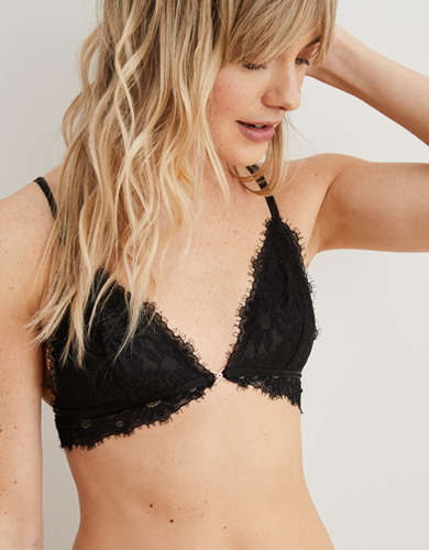 Aerie Happy Lace Triangle Bralette