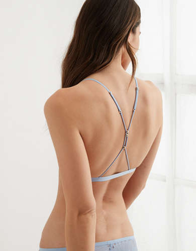 Aerie Hibiscus Lace Strappy Triangle Bralette