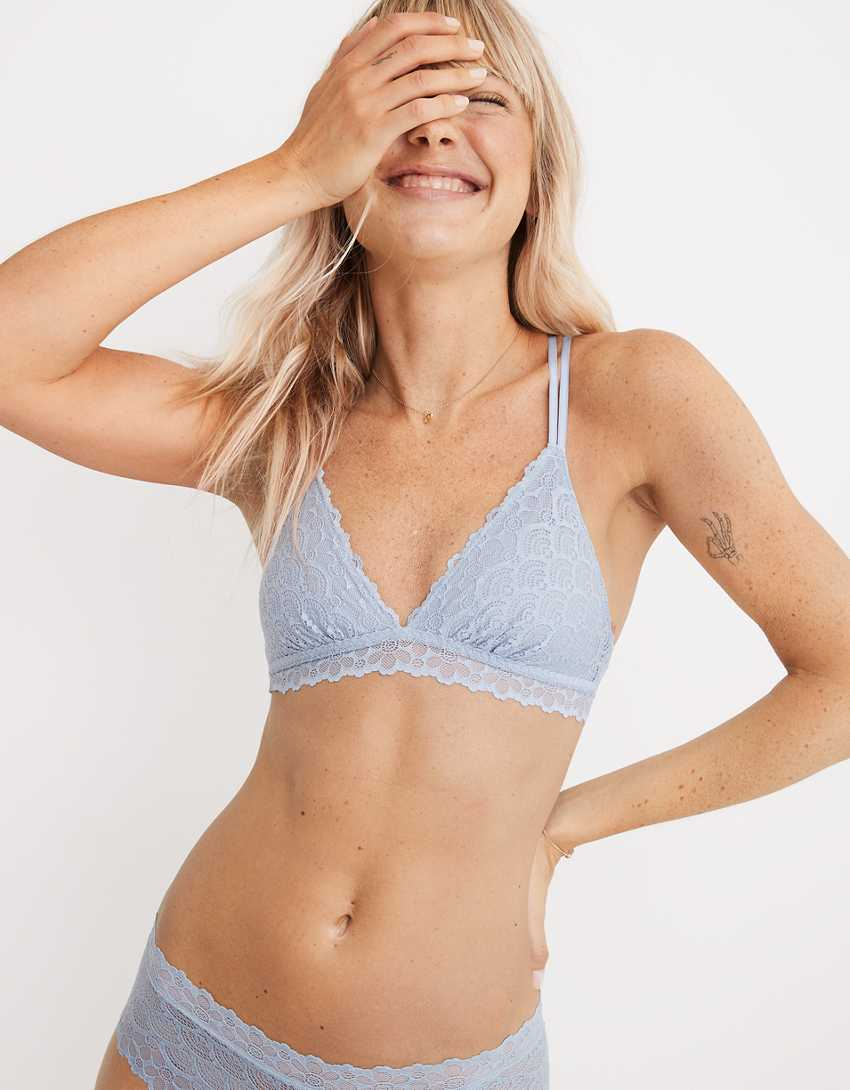 Aerie Free-To-Be Lace Strappy Triangle Bralette