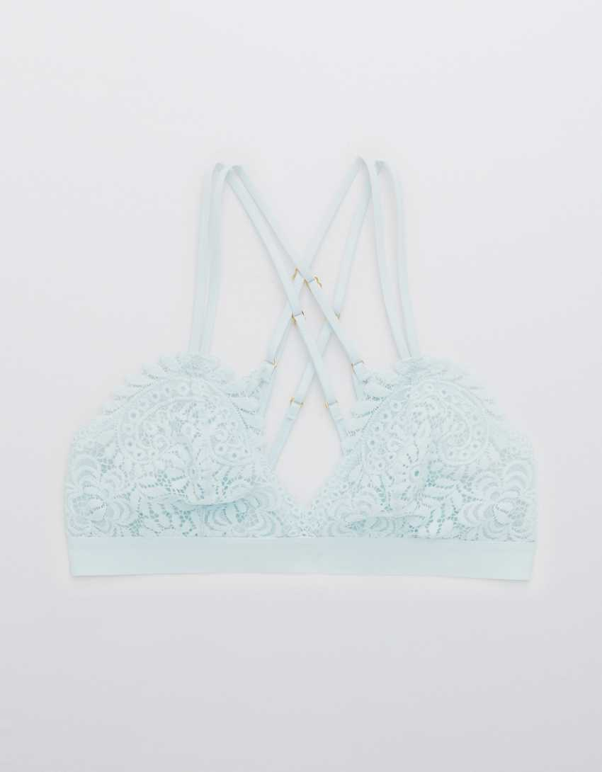 Aerie Far Out Lace Strappy Triangle Bralette