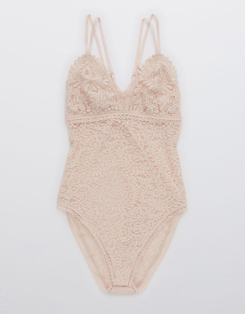 Aerie Far Out Lace Bodysuit