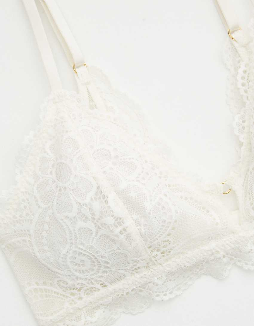 Aerie Slumber Party Lace Triangle Bralette