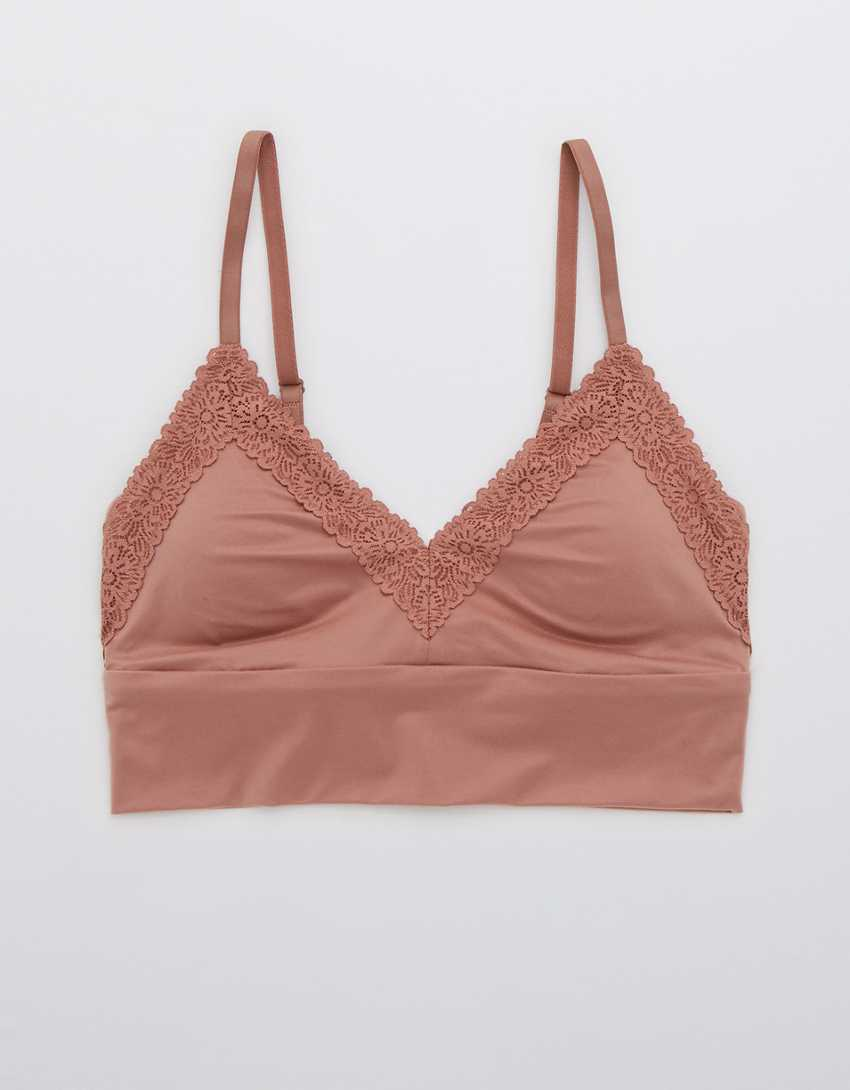 Aerie Sunnie Lace Padded Triangle Bralette