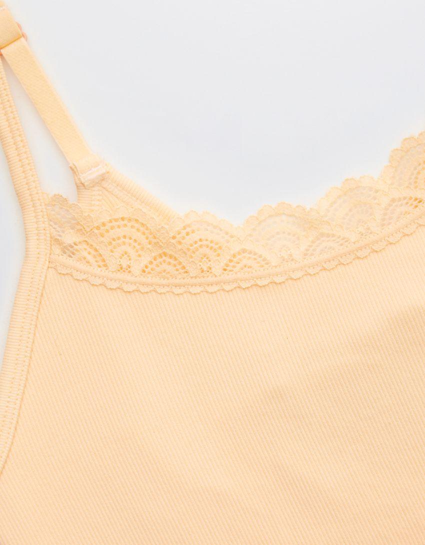 Aerie Seamless Lace Trim Longline Bralette
