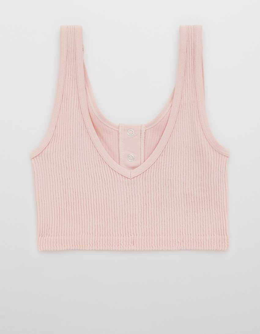 Aerie Seamless Snap Front Longline Bralette