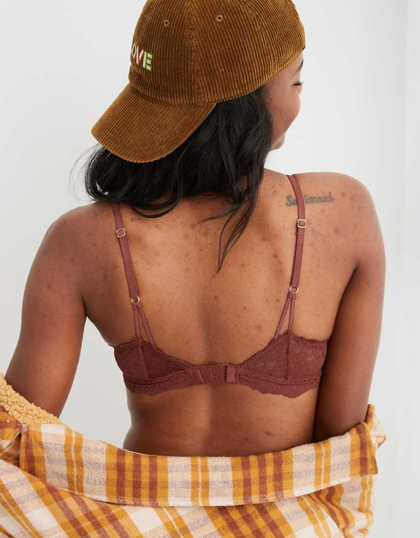 Aerie Pointelle Lace Triangle Bralette