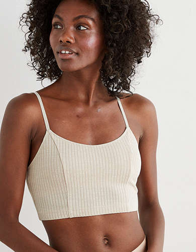 Aerie Chill Ribbed Longline Bralette