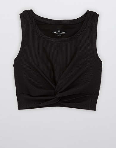 OFFLINE Ribbed Shine Twist Front Sports Bra