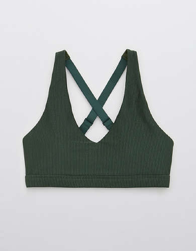 OFFLINE Ribbed Shine Strappy Back Sports Bra