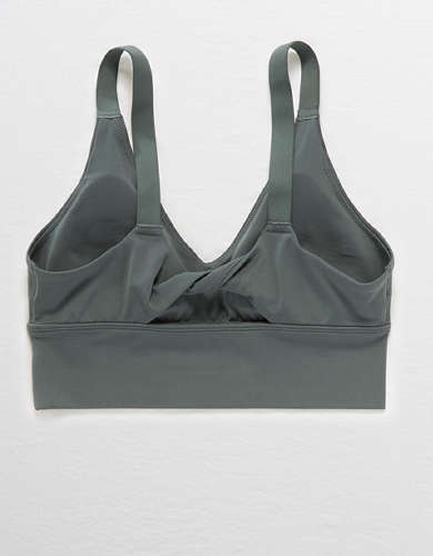 Aerie Real Me Twist Back Sports Bra
