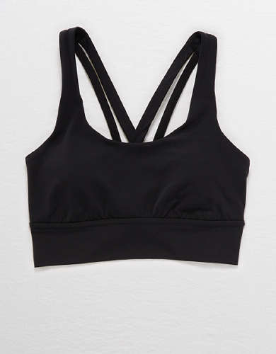 Aerie Real Me Strappy Sports Bra