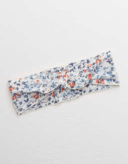aerie-woven-bow-tie-headband by american-eagle-outfitters