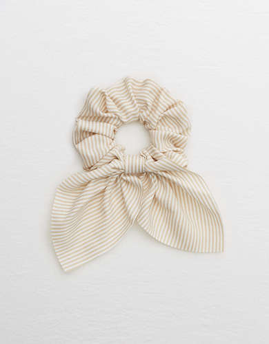 Aerie Striped Bow Scrunchie -