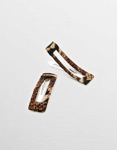 Aerie Leopard Snap Clip 2-Pack
