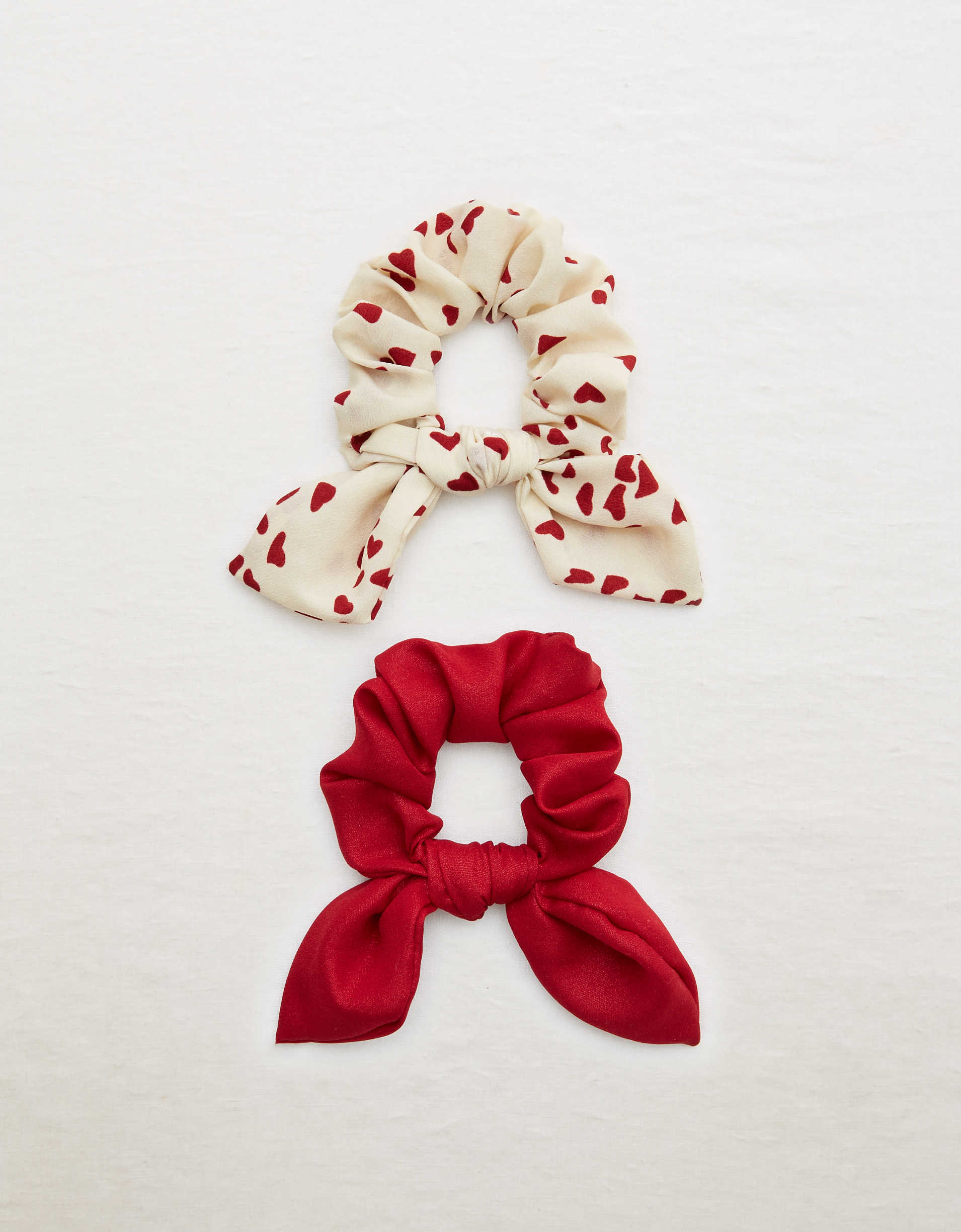 Aerie Heart Bow Scrunchie 2-Pack