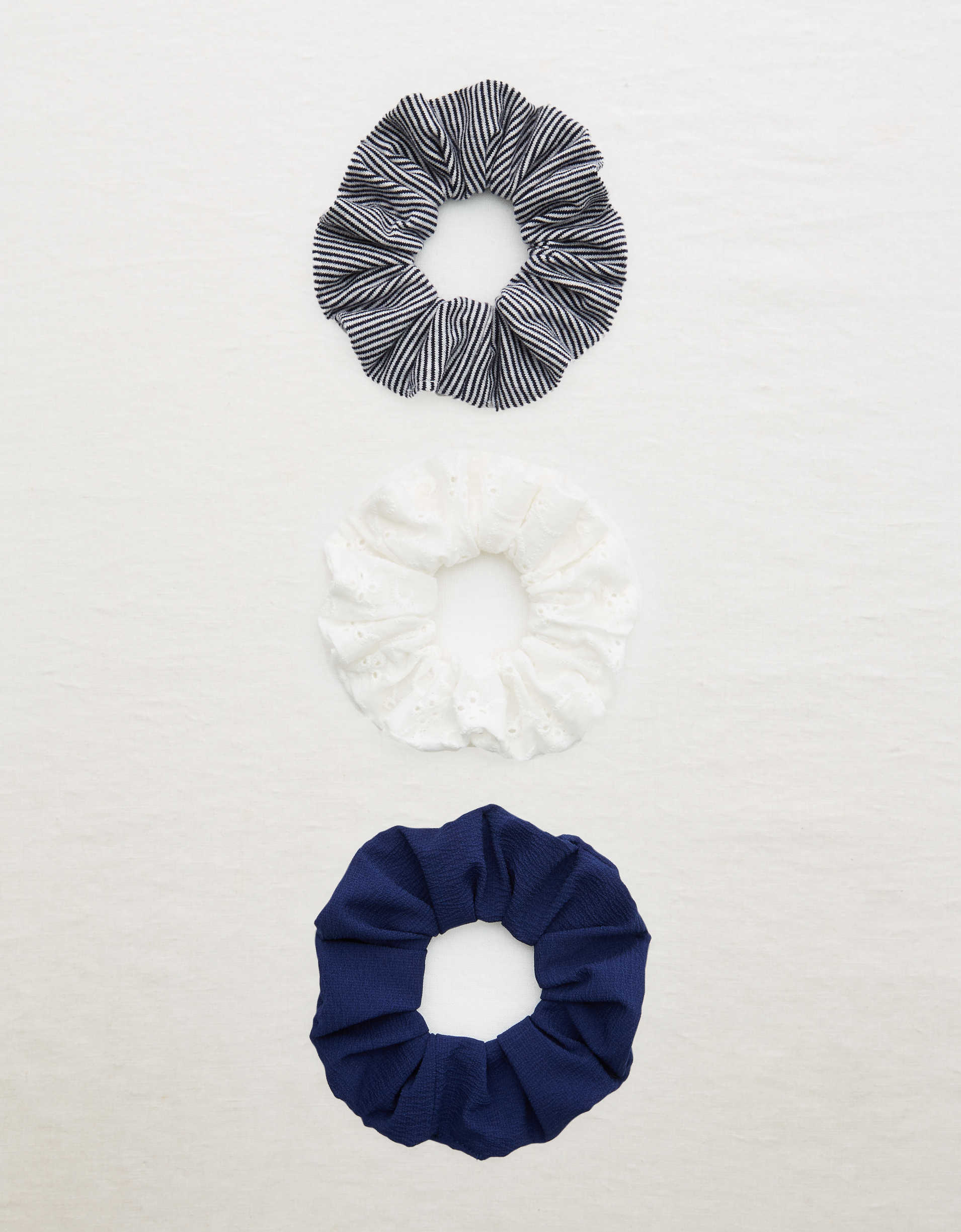 Aerie Eyelet Scrunchie Pack