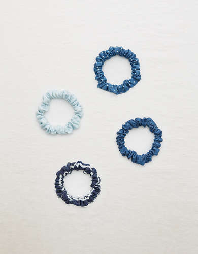 Aerie Chambray Mini Scrunchie 4-Pack