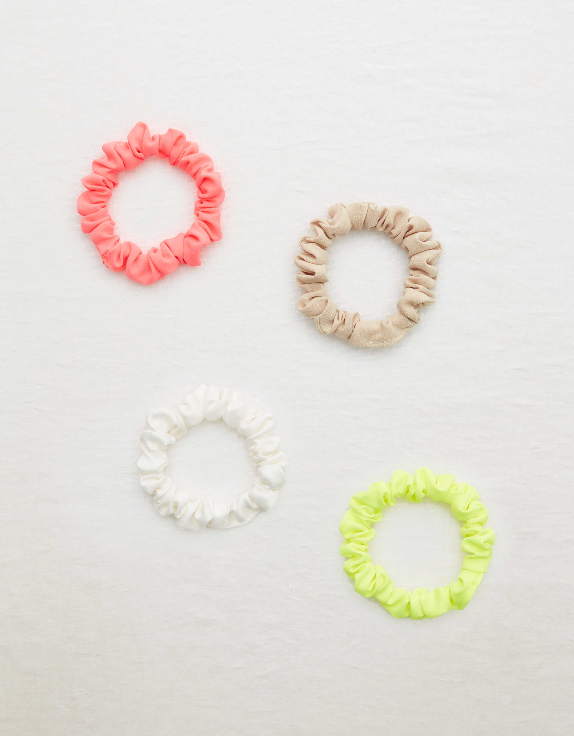 Aerie Neon Mini Scrunchie 4-Pack