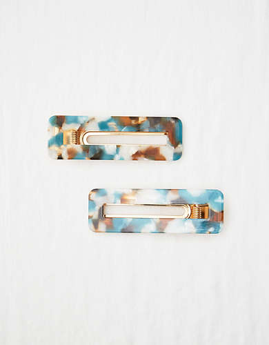 Aerie Rectangle Barrette 2-Pack
