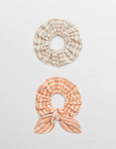Aerie Striped Scrunchie 2-Pack