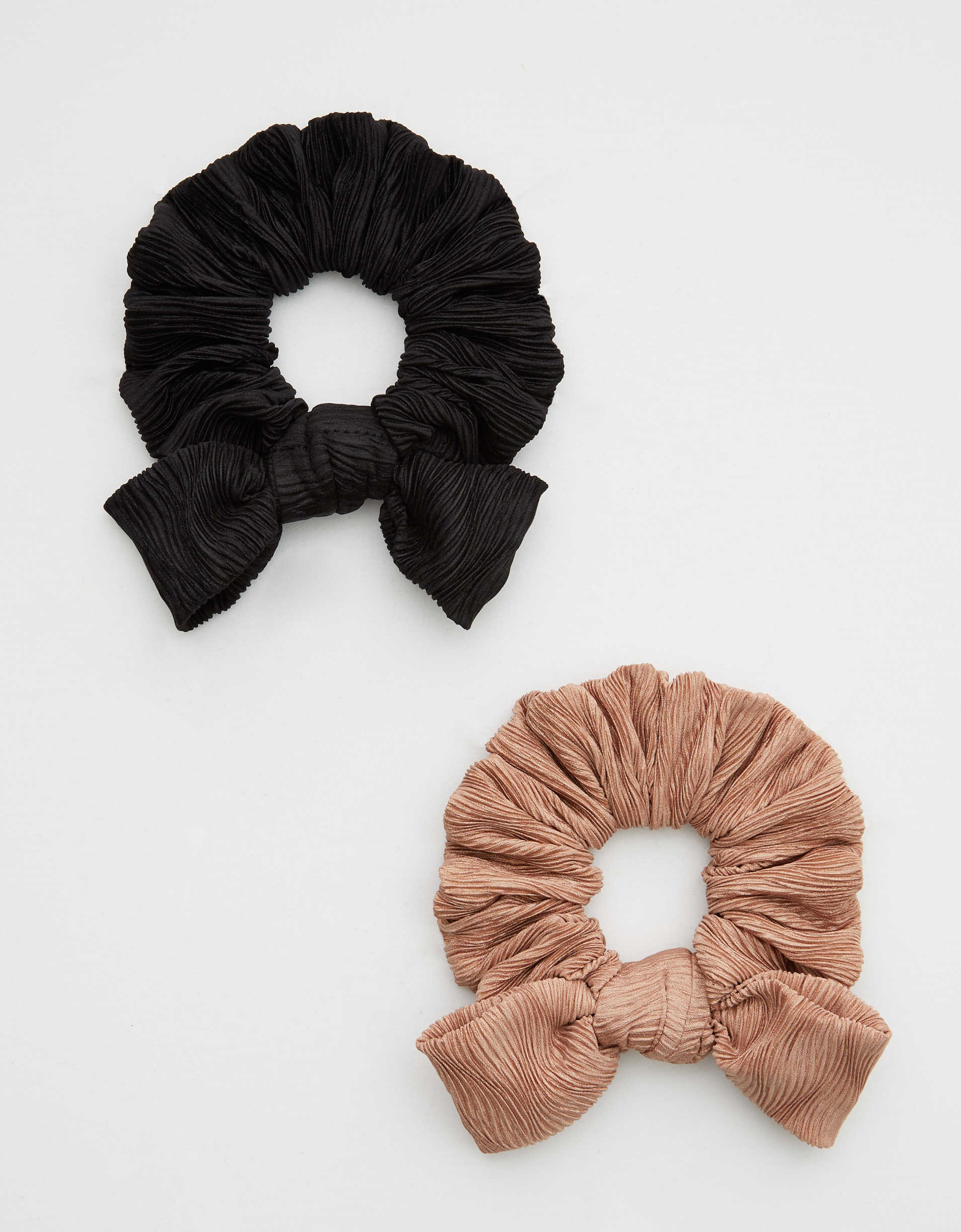 Aerie Satin Bow Scrunchie 2-Pack