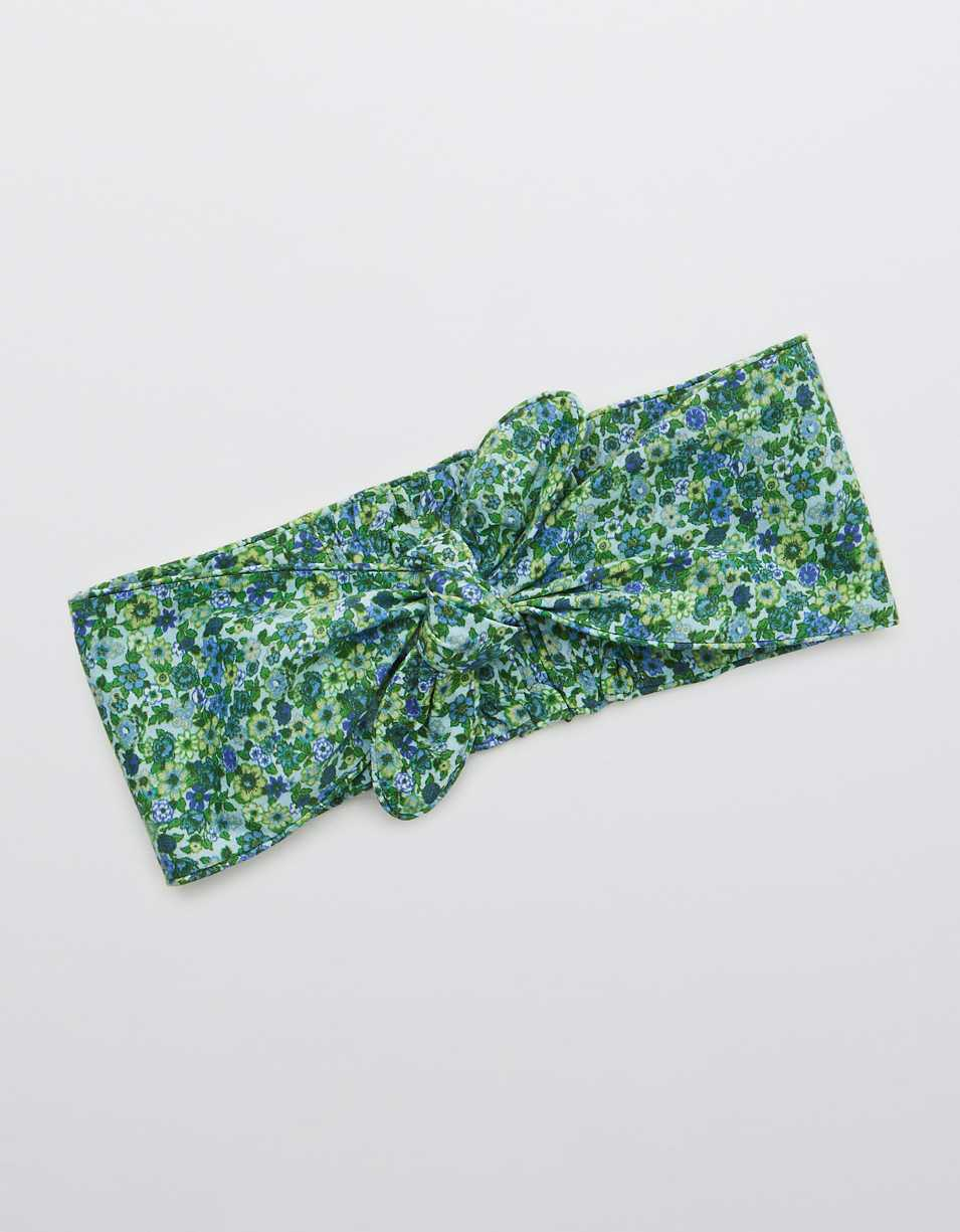 Aerie Cotton Poplin Twist Headband