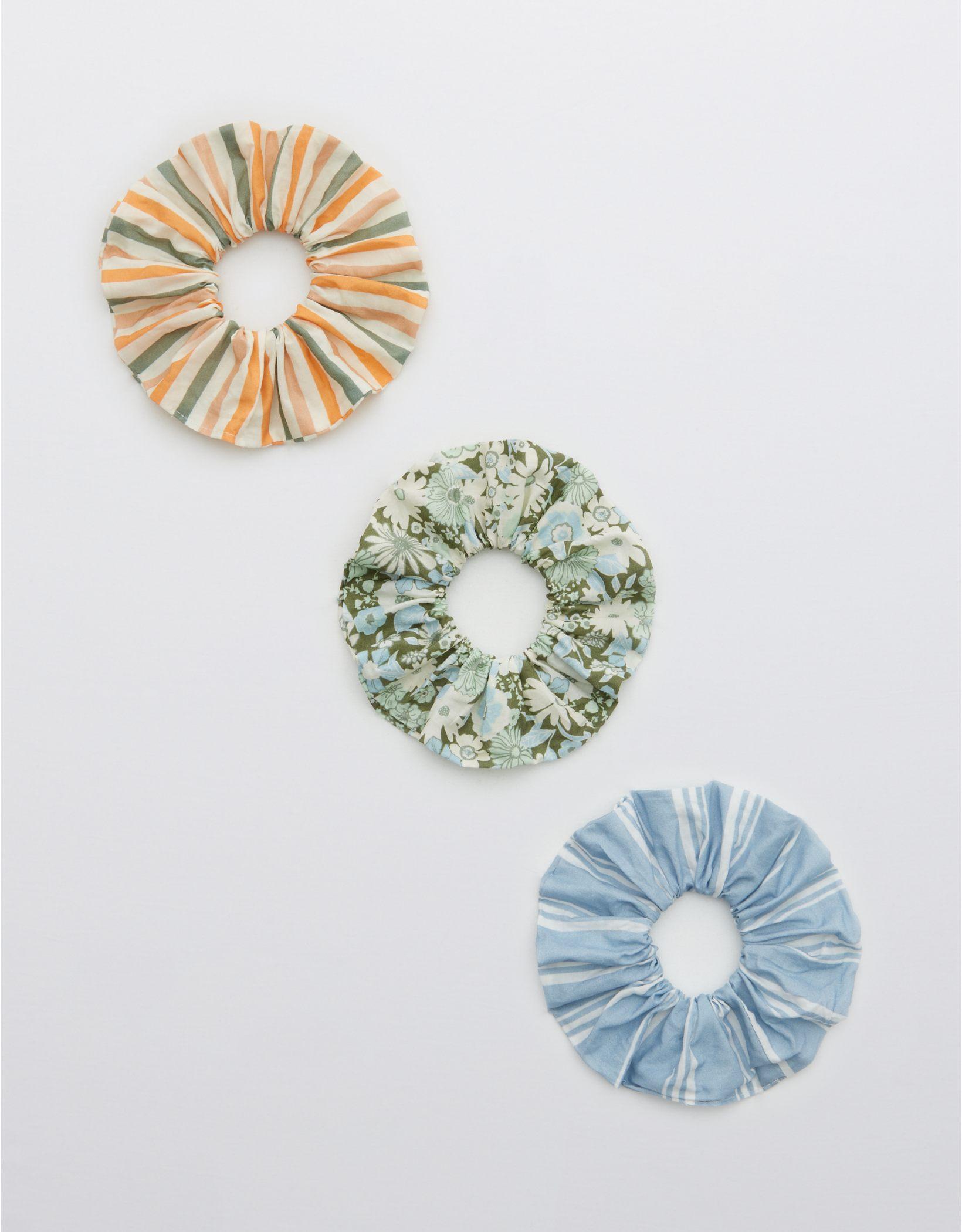 Aerie Cotton Poplin Scrunchie 3-Pack