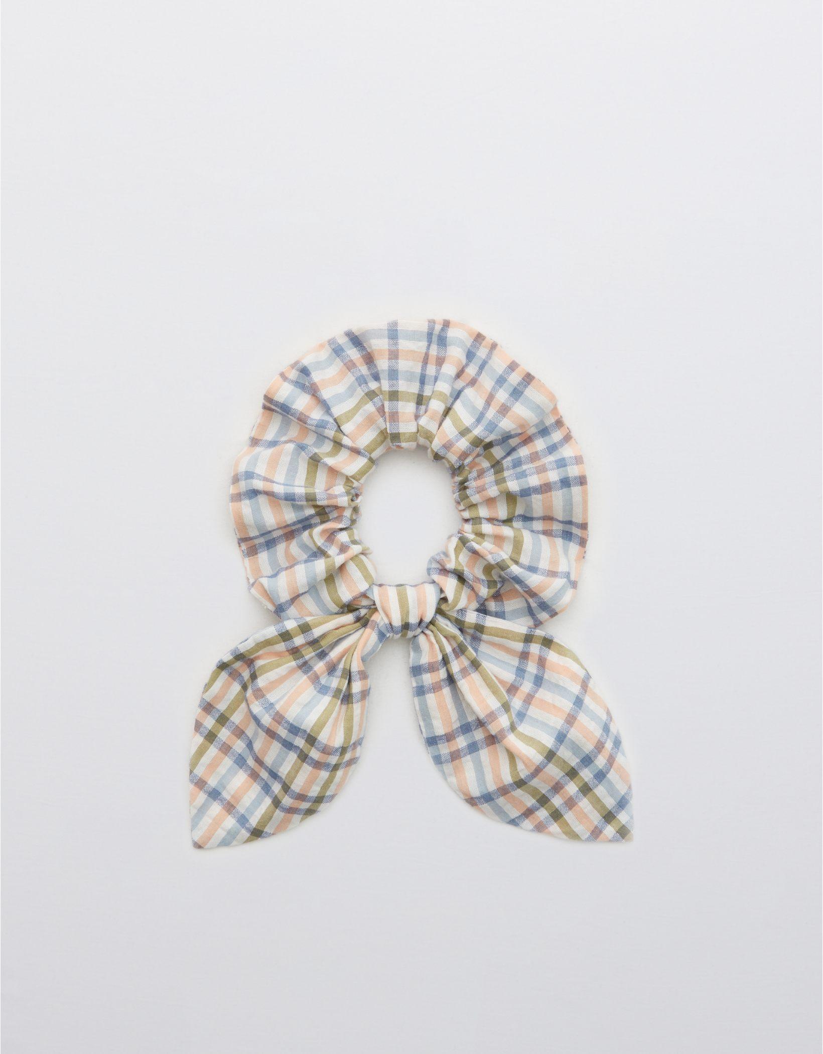 Aerie Seersucker Bow Scrunchie