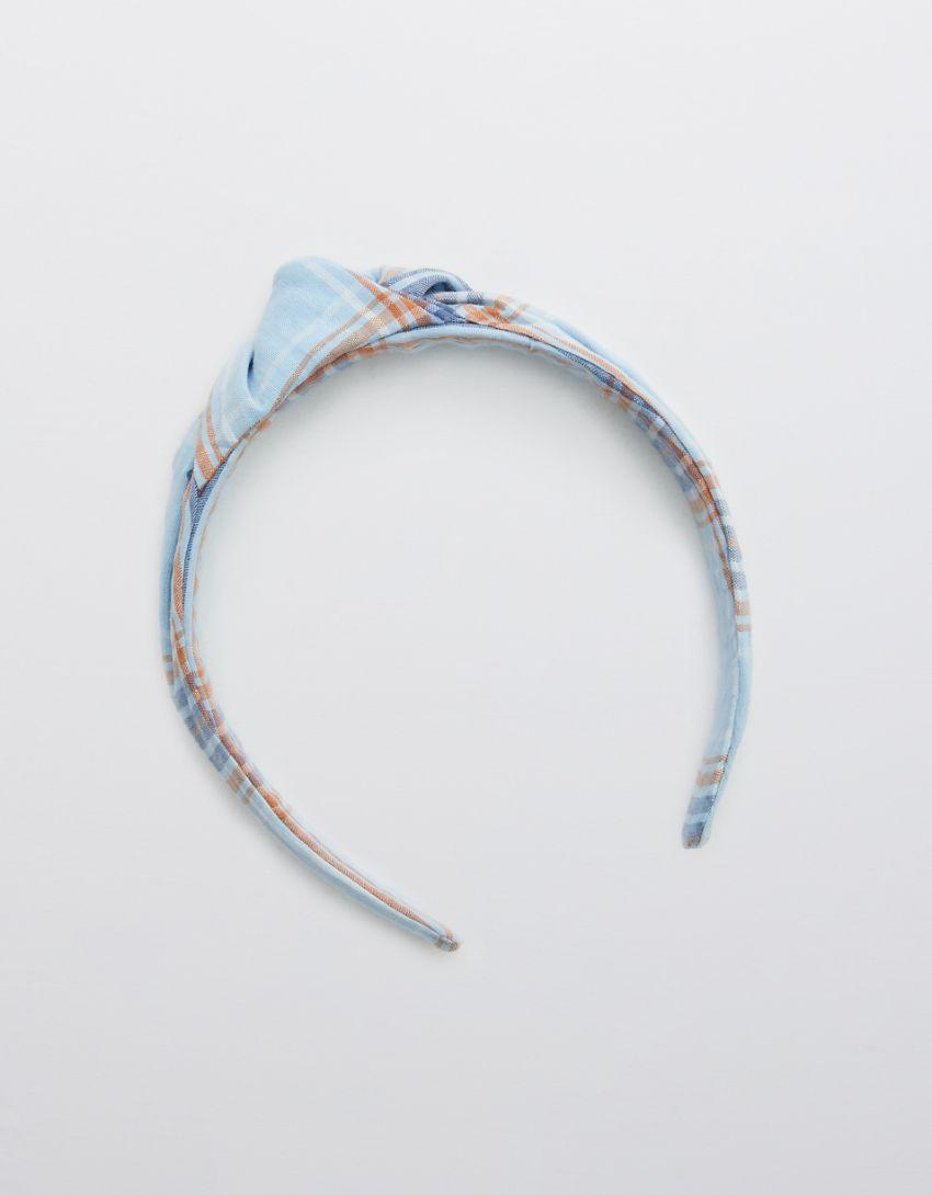 Aerie Seersucker Top Knot Headband