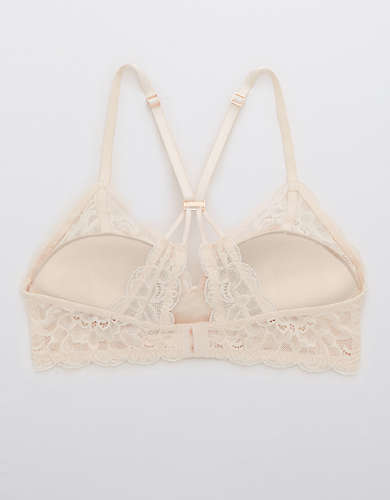 Aerie Real Power Wireless Push Up Lace Bra