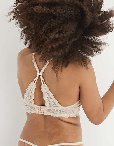 Aerie Real Power Wireless Lace Push Up Bra