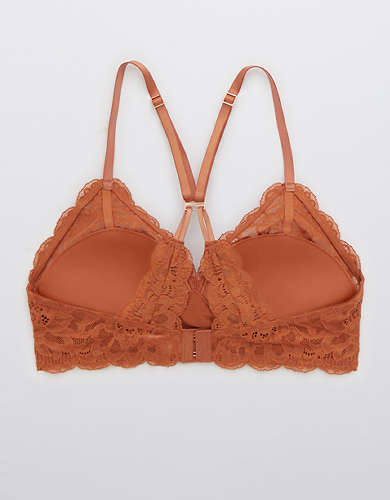 Aerie Real Power New Blooms Lace Wireless Push Up Bra