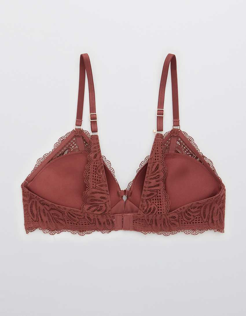 Aerie Real Power Wireless Push Up Be Free Lace Bra