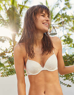 Aerie Crochet Push Up Underwire Bikini Top