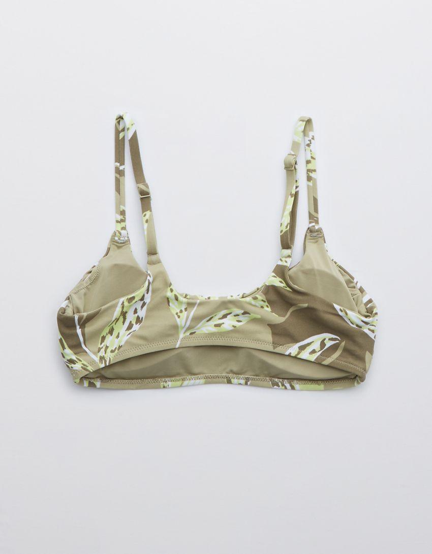 OFFLINE Real Me Printed Scoop Bikini Top